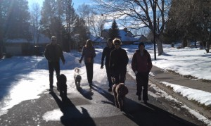 Erin's family on a Christmas Walk