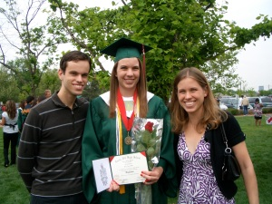 Erin and her siblings at Kelly's high school graduation