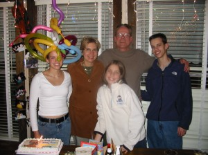 Erin's family at her 18th birthday surprise party